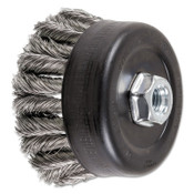 Advance Brush COMBITWIST Knot Wire Cup Brush, 4 in Dia., .014 in Stainless Steel Wire, 1 EA, #82789