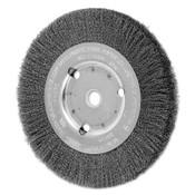Advance Brush Narrow Face Crimped Wire Wheel Brush, 6 D x 5/8 W, .008 Carbon Steel, 8,000 rpm, 1 EA, #80039