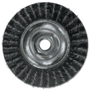 Advance Brush ECAP Encapsulated Wheel Brush, 7 in D x 3/16 in W, .014 in Carbon Steel Wire, 1 EA, #83509