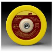 3M Hookit Backup Pads, 7 in Dia, Yellow, 1 EA, #7000042720
