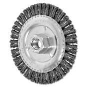 Advance Brush COMBITWIST Stringer Wheel, 4 7/8 D x 3/16 W, Carbon Steel Wire, 5/8 in - 11, 1 EA, #82689