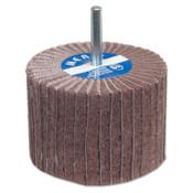 Carborundum Interleaf Flap Wheels with Mounted Steel Shanks, 2 in x 1 1/2 in, 80 Grit, 10 BX, #8834138125