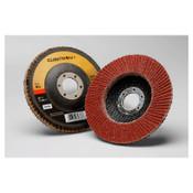 3M Cubitron II 969F Flap Discs, Ceramic, 4 1/2 in Dia, 7/8 in Arbor, 40+ Grit, 10 CA, #7100104939