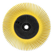 3M Scotch-Brite™ Radial Bristle Brush, 6 in D x 1/2 in W, 10,000 rpm, Grit 80, 1 EA, #7100138291