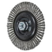 Advance Brush COMBITWIST Stringer Wheel, 6 in D x 3/16 in W, Stainless Steel Wire, 56 Knots, 1 EA, #82764