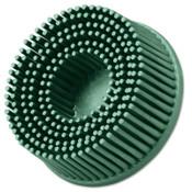 3M Roloc Bristle Discs, 2 in, 50, 25,000 rpm, Ceramic Abrasive Grain, Green, 1 EA, #7000000742