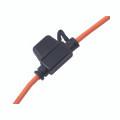Miniature Automotive Blade Inline Fuse Holder with 18GA, 30 Amp, Orange Wire (25/Pkg.)