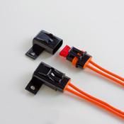 Waterproof ATC/ATO Style Standard Automotive Blade Inline Fuse Holder, 12GA, 30 Amp, Orange Wire (25/Pkg.)