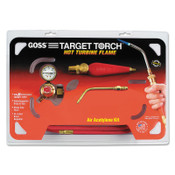 "Goss Feather Flame Air-Acetylene Torch Outfits, 1/4"", Acetylene(B), Soldering/Brazing, 1 KT, #KA37H"