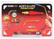 "Goss Feather Flame Air-Acetylene Torch Outfits 3/16"", Acetylene(B), Soldering/Brazing, 1 EA, #KA1H"