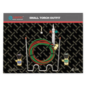 Gentec Small Torch Kit, Propane, Handle, Tip, Hose, Oxygen and Fuel Regulator, Carrier, 1 EA, #KSTP14TSP