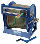 Coxreels Large Capacity Welding Reel, 3/8 I.D. 2/3 in. O.D. x 100ft, Hand Crank Dual Hose, 1 EA, #1275WL3100C
