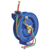 Coxreels EZ-Coil Welding Hose Reels, 25 ft, Oxygen-Acetylene Dual Hose, 1 EA, #EZPW125