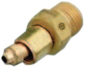 Western Enterprises Brass Hose Adaptors, Male/Female, A-Size, B-Size, RH, 1 EA, #105