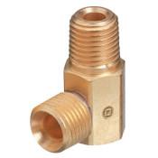Western Enterprises Brass Hose Adaptors, Male/Male, B-Size, LH, 1 EA, #254