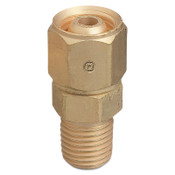 Western Enterprises Brass Hose Adaptors, Male/Female Swivel, Brass, RH, 1/4 in (NPT/M), 1 EA, #153