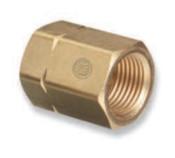 Western Enterprises Brass Cylinder Adaptors, CGA-300 Commercial Acetylene To CGA-510 POL Acetylene, 1 EA