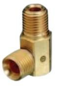 Western Enterprises Brass Hose Adaptors, Male/Male, B-Size, RH, 1 EA, #253