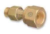 "Western Enterprises Brass Cylinder Adaptors, CGA-300 Commercial Acetylene To CGA-200 ""MC"" Acetylene, 1 EA"