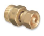 "Western Enterprises Brass Cylinder Adaptors, From CGA-200 ""MC"" Acetylene To CGA-520 ""B"" Tank, 1 EA"