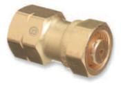 "Western Enterprises Brass Cylinder Adaptors, CGA-520 ""B"" Tank Acetylene To CGA-510 POL Acetylene, 1 EA"