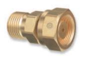 "Western Enterprises Brass Cylinder Adaptors,CGA520 ""B"" Tank Acetylene To CGA300 Commercial Acetylene, 1 EA"