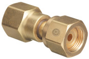 Western Enterprises Brass Cylinder Adaptors, From CGA-320 Carbon Dioxide To CGA-580 Nitrogen, 1 EA, #806