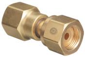 Western Enterprises Brass Cylinder Adaptors, From CGA-320 Carbon Dioxide To CGA-580 Nitrogen, 1 EA