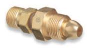 Western Enterprises Brass Cylinder Adaptors, From CGA-580 Nitrogen To CGA-320 Carbon Dioxide, 1 EA