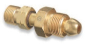 Western Enterprises Brass Cylinder Adaptors, From CGA-580 Nitrogen To CGA-350 Hydrogen, 1 EA, #811