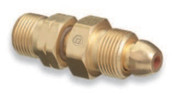 Western Enterprises Brass Cylinder Adaptors, From CGA-580 Nitrogen To CGA-555 Propane (LqW), 1 EA