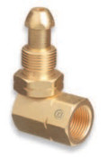 Western Enterprises Brass Cylinder Adaptors, From CGA-510 POL Acetylene To CGA-510 POL Acetylene 90°, 1 EA