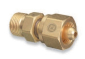 Western Enterprises Brass Cylinder Adaptors, From CGA-346 Air To CGA-540 Oxygen, 1 EA, #827