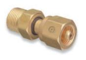 Western Enterprises Brass Cylinder Adaptors, From CGA-280 Medical Mixtures To CGA-540 Oxygen, 1 EA