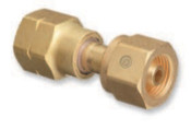 Western Enterprises Brass Cylinder Adaptors, From CGA-346 Air To CGA-590 Industrial Air, 1 EA, #843