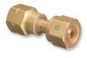 Western Enterprises Brass Cylinder Adaptors, From CGA-346 Air To CGA-590 Industrial Air, 1 EA