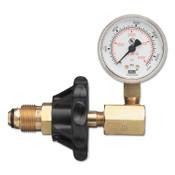 Western Enterprises Cylinder Pressure Testing Gauges, Nitrogen; Argon; Helium, Brass, CGA-580, 1 EA