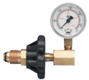 Western Enterprises Cylinder Pressure Testing Gauge, Nitrogen, Brass, CGA-580, 1 EA