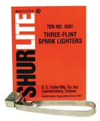 GC Fuller Spark Lighters, Tri-Flint Lighter, 1 EA, #4501