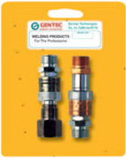 Gentec Quick Connector Sets, Hose-to-Hose Connector Set, 145 psi, Fuel/Oxygen, 1 EA