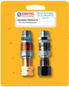 Gentec Quick Connector Sets, Hose-to-Torch Connector Set 145 psi, Fuel/Oxygen, 1 EA, #QCHTPRSP