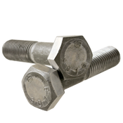 "1-1/8""-7x5-1/2 Partially Threaded A307 Grade B Heavy Hex Bolts  Coarse Plain (20/Bulk Pkg.)"