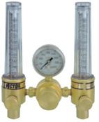 Esab Welding DFM Dual Flowmeter Regulators, Argon; Helium, CGA 580, 3,000 psig inlet, 1 EA, #7811153