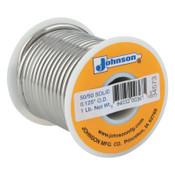 Harris Product Group Wire Solders, Spool, Solid Core, 1/8 in, 50% Tin, 50% Lead, 1 LB