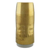 Bernard Centerfire Nozzles, 1/8 in Tip Recess, 3/4 in Bore, For BTB Series, Brass, 1 EA, #N3418B
