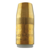 Bernard Centerfire Nozzles, 1/8 in Tip Recess, 5/8 in Bore, For Q-Gun, Brass, Large, 1 EA, #N5818B