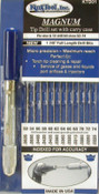 King Tool Magnum Tip Drill Set, #52-74 (Even Numbers), w/ Pin Vise; Indexed Carry Case, 1 SET, #KTD01