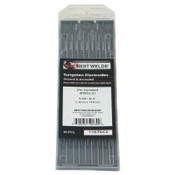 Best Welds 2% Ceria Ground Tungsten Electrodes, 1/16 in Dia, 7 in Long, 1 PK, #1167GC2