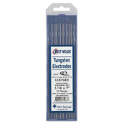 Best Welds E3 Tungsten Electrodes, 1/16 in Dia., 7 in Long, 1 PK, #1170000