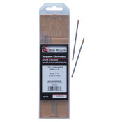 Best Welds 1.5% Lanthanated Tungsten Electrodes, 3/32 in Dia, 3 in Long, 1 PK, #3323GL